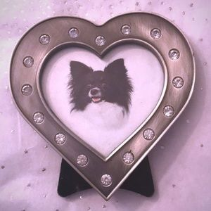 Other - Studded heart-shaped picture frame